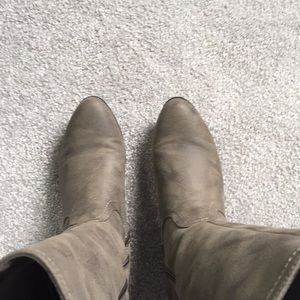 White Mountain Shoes - Taupe wide calf riding boots